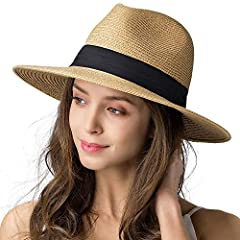 Panama Straw hat: FURTALK summer hats are made of 90% breathable Paper Straw and 10% Polyester which makes it lightweight and flexible; Tight braiding ensures durability; Besides, we improved the package to ensure the brim warping and misshapen probl...