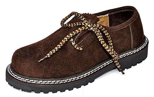 Alpin-Trachten Trachtenschuhe Dunkelbraun Haferlschuhe Schuhe AT-779 (31)
