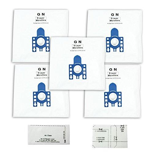 First4spares Typ GN Hohe Filtration Tuch Staub-Beutel für Miele Staubsauger (Packung mit 5 + Motor und Luftfilter)