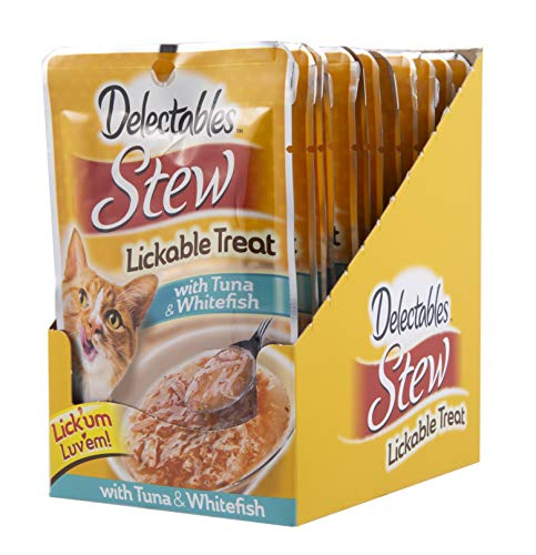 Delectables Stew Lickable Wet Cat Treats - Tuna & Whitefish- 12 Pack