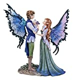 Ebros Amy Brown Family Love Fairy Mother Father and Baby Child Statue 9.5' Tall Fantasy Mythical Faery Garden Magic Collectible Figurine Fairies Pixies Nymphs Decor