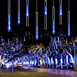 ForChic Christmas Lights Meteor Shower Lights 12 inch 8 Tube 192 LED Waterproof Snowfall...