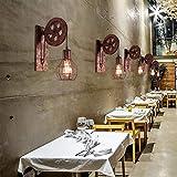 Wandleuchte E27 Vintage Wandlampe Retro Wandbeleuchtung Kreative Beleutung für Treppenhaus Flur Cafe Bar Restaurant Hotel (Bronze) - 5