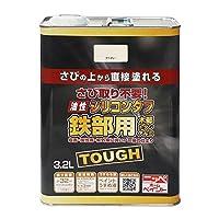 ニッペ 高耐久シリコン樹脂塗料 油性シリコンタフ アイボリー 3.2L