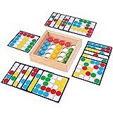 ZSDFW Montessori Juguete educativo, tablero de madera para niños, varitas de educación temprana con cuentas, rompecabezas, juego de pesca, rompecabezas, color para 3, 4 y 5 años, niño y niña