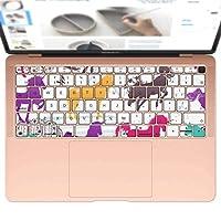igsticker MacBook Air 13inch 2018 専用 キーボード用スキンシール キートップ ステッカー A1932 Apple マックブック エア ノートパソコン アクセサリー 保護 014079 ユニコーン カラフル