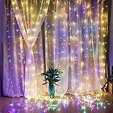 妖精ウィンドウカーテンライト、304個のLEDガゼボ、結婚式の背景、ベッドルームインテリア、8モードのための屋内屋外のストリングライト color