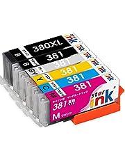 キャノン BCI-381 BCI-380XL 6色セット 互換 インク カートリッジ BCI-381+380/6MP TS8130 TS8230 starink