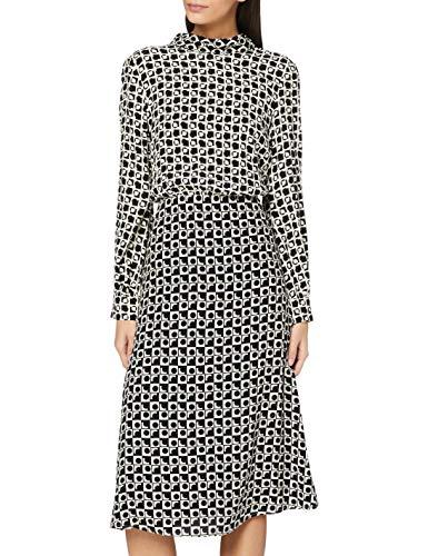 ESPRIT Collection Damen 110EO1E310 Kleid, Off White 4 (113), 38