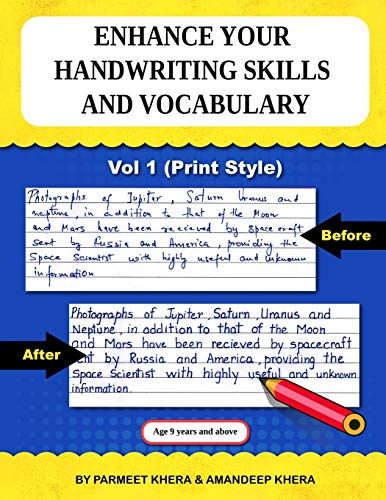 Enhance your Handwriting Skills and Vocabulary: Practice Book on Writing Skills for Ages 9 years and