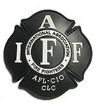 Black IAFF UNION 3.5' PVC/RUBBER (hook/loop) PATCH