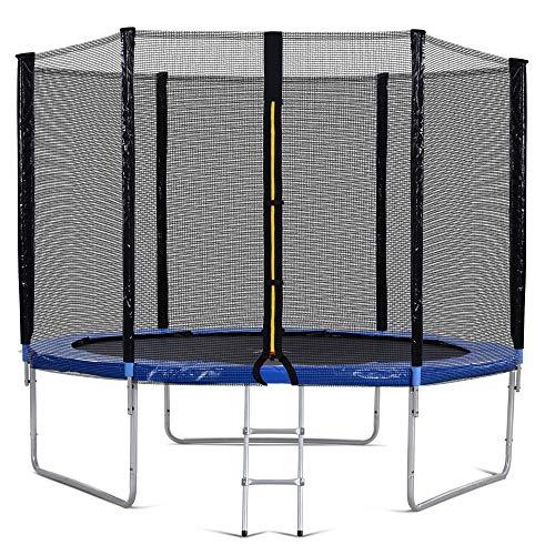 Outdoor-Trampolin mit Sicherheitszaun und Leiter, 10 FT Gartentrampolin mit 150 kg, hat den GS- und TÜV-Test bestanden