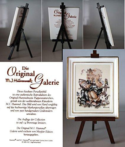 M. J. Hummel Gallery The Original Musikanten *350011 * Handbemalt, Porzelan Bild mit Staffelei Lizenz