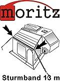 Moritz Original Sturmband 13m Sturmsicherung Spannband für Vorzelt Vordach Dachhalteband