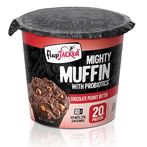 FlapJacked Mighty Gluten-Free Muffins, Chocolate Peanut Butter