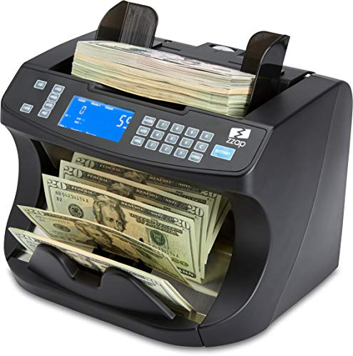 ZZap NC40 Bill Counter & Counterfeit Detector - Money Cash Currency Machine