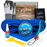 AnglerMag Magnet Fishing Kit, Strong 1000 lb Magnetic Fishing Kit with Rope, 9 Piece Complete Set, Super Powerful Neodymium Fishing Magnet Kit for Salvage & Treasure Hunting in Rivers, Oceans & Lakes