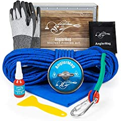 ✔ THE ULTIMATE MAGNET FISHING KIT … includes (1) 1000 lb pull-force magnet, (1) 60' magnet fishing rope, (1) carabiner, (1) bottle of threadlocker, (1) pair of tough, cut-resistant gloves, (1) plastic scraper, (1) microfiber towel, (1) mesh bag, and ...