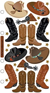 Sticko SPPC08 Classic Stickers, Cowboy Hats and Boots