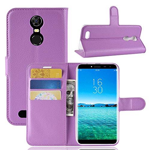 95Street Handyhülle für Oukitel C8 3G,C8 4G Schutzhülle Book Hülle für Oukitel C8 3G,C8 4G, Hülle Klapphülle Tasche im Retro Wallet Design mit Praktischer Aufstellfunktion - Etui Lila