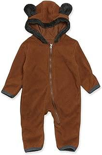 Newborn Baby Onesie Cartoon Bear Fleece Jumpsuit Infant...