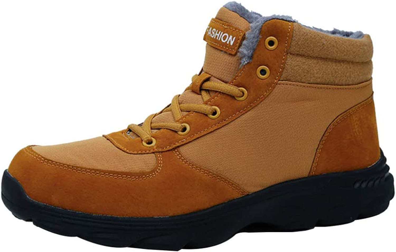 Snow Boots Men's shoes Outdoor Warm Fur Lined Ankle Waterproof Men's Non-Slip Wear-Resistant Cotton shoes