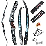 66/68/70 Inch Archery Competition Athletic Bow Takedown Shooting Recurve Bow 25' ILF Metal Bow Riser Right Handed with Bow Stringer Tool for Adult,Youth,Teens