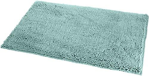 Amazon Basics - Badteppich, Hochflor, rutschfest, Mikrofaser, 53 x 86 cm, Meeresgrün