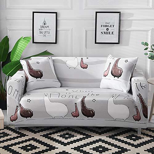 XVBABY Jacquard-Stretch-Sofabezugall-Inclusive-Universal-Sofabezug, Fauler 4-Jahreszeiten-Universal-Rutschfester Sofabezug Für DREI Personen (190-230 cm) Hellgraues Tier