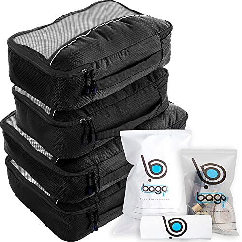 Bago 4 Set Packing Cubes for Travel - Luggage & Suitcase Organizer -...
