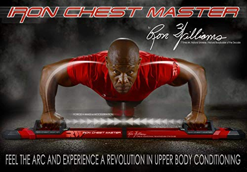 Product Image 7: Iron Chest Master Push Up Machine – The Perfect Chest Workout Equipment for Home Workouts – Exercise Equipment Includes Resistance Bands and Unique Fitness Program for Men and Women