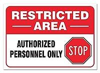 立ち入り禁止区域 金属板ブリキ看板注意サイン情報サイン金属安全サイン警告サイン表示パネル