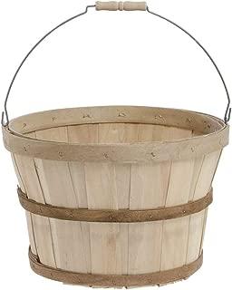 Half Bushel Basket with Metal Handle, Pack of 6