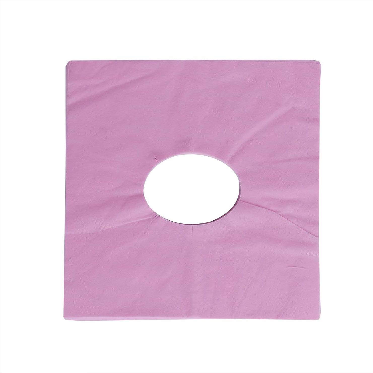 外部模索幻滅するSUPVOX 100ピース使い捨てマッサージフェイスクレードルカバーフェイスマッサージヘッドレストカバー用スパ美容院マッサージ(ピンク)