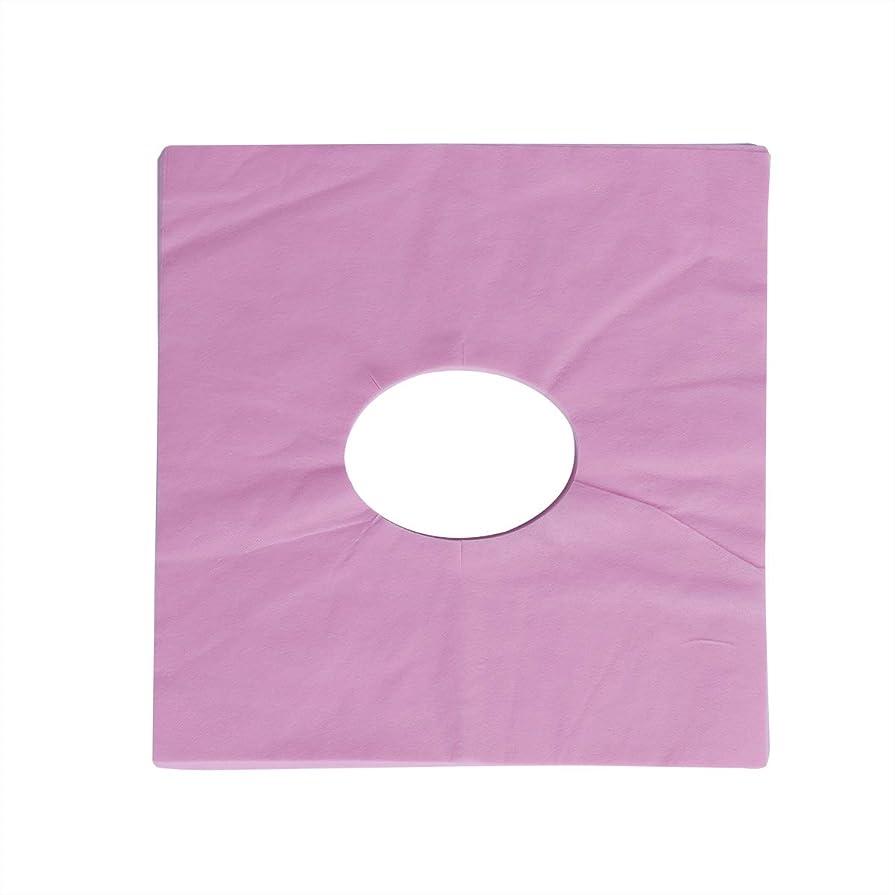 ショートカット症候群狂人Healifty 100ピース使い捨てマッサージフェイスクレードルカバーフェイスマッサージヘッドレストカバースパ用美容院マッサージ(ピンク)