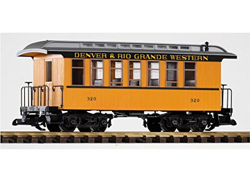 PIKO G SCALE MODEL TRAINS - D&RGW WOOD STYLE COACH 320 - 38610 by Piko