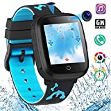 HuaWise Kids Smartwatch,HD Touch Screen Game Watch,Waterproof Smart Watch for Kids with Music Player Dural Camera Alarm Clock Birthday Gift
