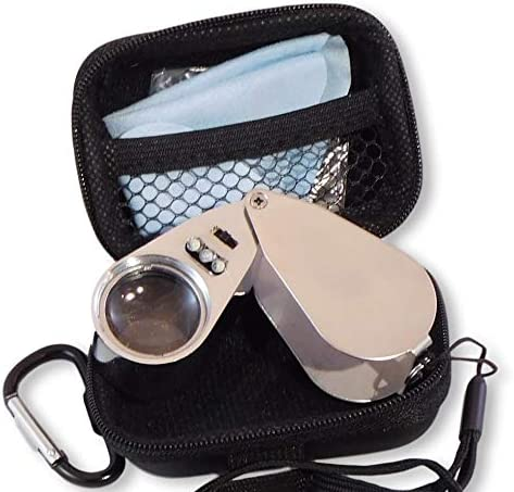 Jewelers latest Loupe 40x Magnifier with Illumination UV online shopping Unbrea LED and