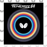 Butterfly Tenergy 64 Table Tennis Rubber Sheet - 1.7 mm, 1.9 mm, or 2.1 mm - Red or Black - 1...