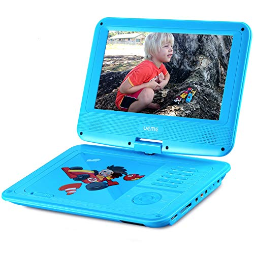 Read About UEME Portable DVD CD Player with 9 Inches LCD Screen, Car Headrest Mount Holder, Remote C...