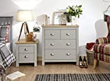 Lancaster Grey or Cream <span class='highlight'>Bedroom</span> <span class='highlight'>Sets</span> 3 or 4 Piece - Wardrobe Chest Bedside Desk