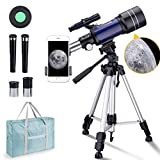BNISE Telescope for Kids 10 and Up, 70mm Aperture 300mm Kids Telescope