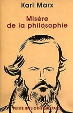 Misère de la philosophie de Karl Marx