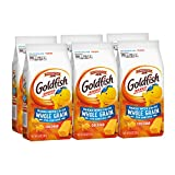 Pepperidge Farm Goldfish Baked with Whole Grain Cheddar Crackers, 6.6 oz. Bags, 6-count