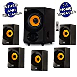 Acoustic Audio AA5170 Home Theater 5.1 Bluetooth Speaker System 700W with...