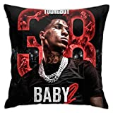 Trendy P-Market Quality Decorative Pillow Case, Autumn Home Decor Cushion Cover, NB-A YoungBoy Throw Pillow Cover with Hidden Zipper for Playroom Office 18x18 Inch