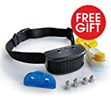 Best No Bark Dog Control Training Collar Plus Clicker - Advanced Cure To Stop Noisy Loud Barking- Electrical Static Stimulus Device- Small & Large Breed-latest quiet silencer repellent- Outdoor and Indoor- Adjustable Safe Humane- 100% Guaranteed!