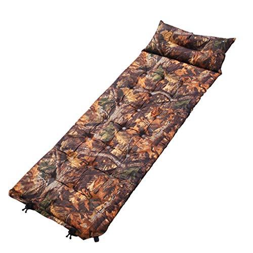 WANG LIQING Tapis de Couchage avec Oreiller Tapis de Tente de Camping Ultra-léger Sac de Couchage pour Compagnon Coussin Anti-humidité Gonflage Automatique Coussin à air Unique Camouflage