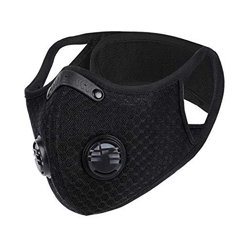 Máscara de Fitness máscara Deportiva máscara de Entrenamiento de altitud anaeróbica-Máscara de oxígeno Negro