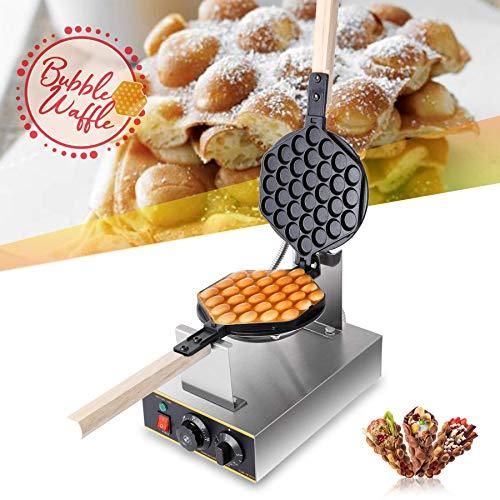 YIHGJJYP Waffeleisen Bubble Waffel Hersteller Gewerbe elektrische Ei Blase mit Antihaft Pfanne Muffin Eggettes Puff Eierkuchen Ofen Maschine 110V/220V
